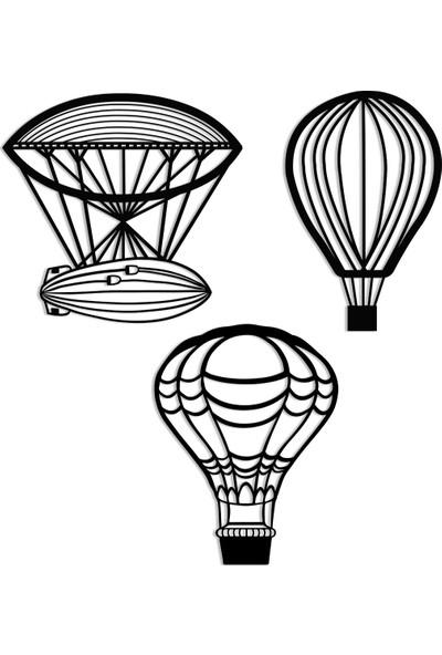 Karaen Flying Balloons Uçan Balonlar Dekoratif Metal Tablo