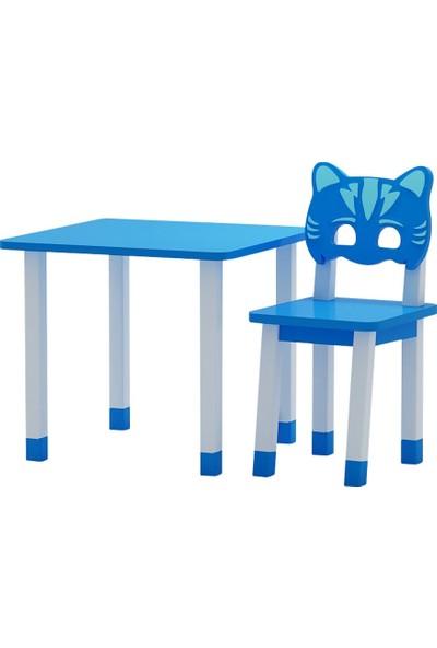 Odun Concept Ahşap Çocuk Oyun ve Aktivite Masa Sandalye Takımı Catboy Ahşap