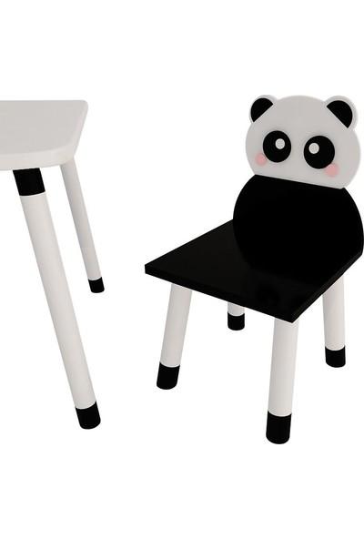 Odun Concept Ahşap Çocuk Oyun ve Aktivite Masa Sandalye Takımı Panda