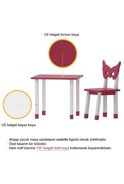 Odun Concept Ahşap Çocuk Oyun ve Aktivite Masa Sandalye Takımı Owlette Ahşap