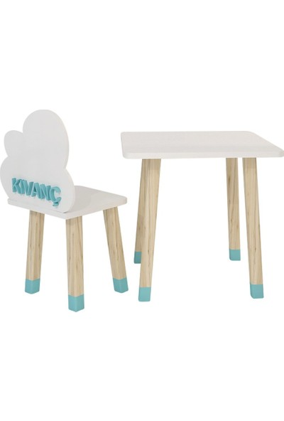 Odun Concept Ahşap Çocuk Oyun ve Aktivite Masa Sandalye Takımı Ahşap Bulut