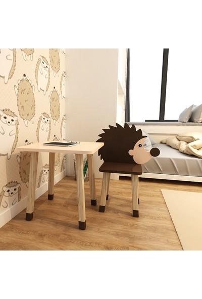 Odun Concept Ahşap Çocuk Oyun ve Aktivite Masa Sandalye Takımı Kirpi Ahşap