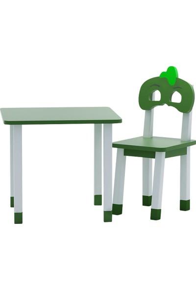 Odun Concept Ahşap Çocuk Oyun ve Aktivite Masa Sandalye Takımı Gekko Ahşap