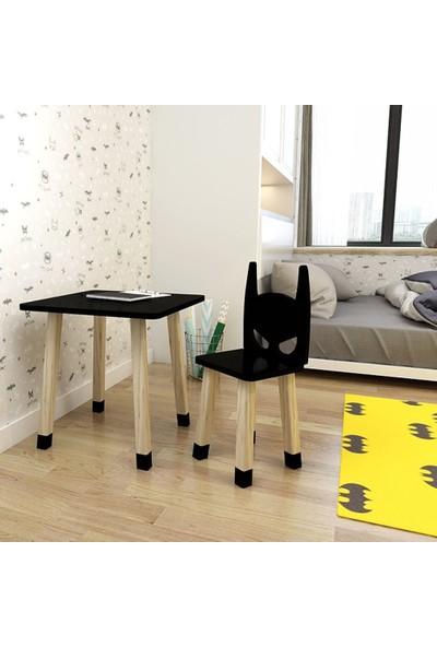 Odun Concept Ahşap Çocuk Oyun ve Aktivite Masa Sandalye Takımı Ahşap Batman