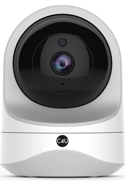 C4U Akıllı Güvenlik Kamerası 360 Derece Dönebilen Kızılötesi Gece Görüşlü IP Kamera HD 1080p - 637JBU