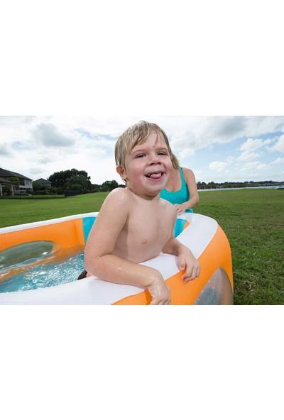Bestway Şişme Çocuk Havuzu Renkli Şeffaf Pencereli 51132