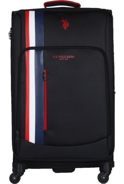 U.S. Polo Assn. İkonikk Şerit Detaylı Büyük Boy Valiz PLVLZ20226A