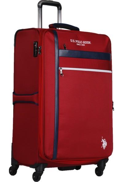 U.S. Polo Assn. Şerit Detaylı Büyük Boy Valiz PLVLZ20230A