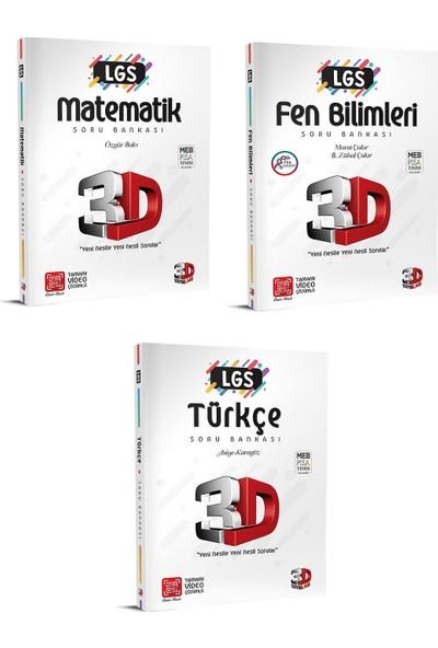 Çözüm Yayınları 3D 8. Sınıf Lgs Matematik Fen Bilimleri Türkçe Soru Bankası Seti 3 Kitap
