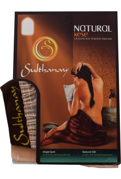 Sulthanay Doğal İpek Kese - Yüz Kesesi