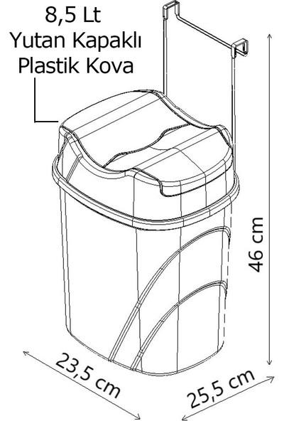 Tekno-tel Dolap Içi Askılı Yutan Kapak Çöp Kovası SF008