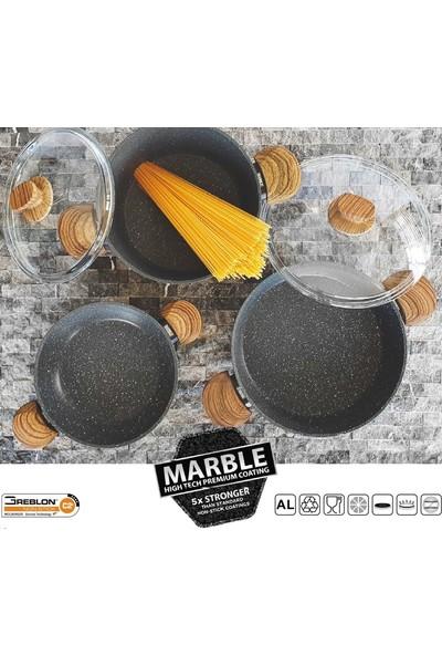 Marble Kısa Tencere 26 cm