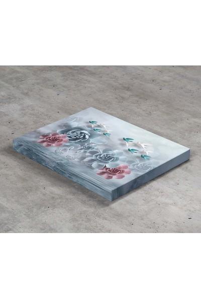 Jasmin Çiçekler ve Kuşlar Kanvas Tablo
