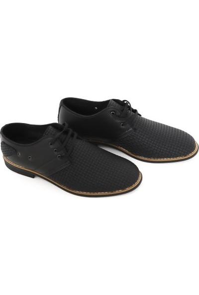 Suna Siyah Deri Erkek Ayakkabı