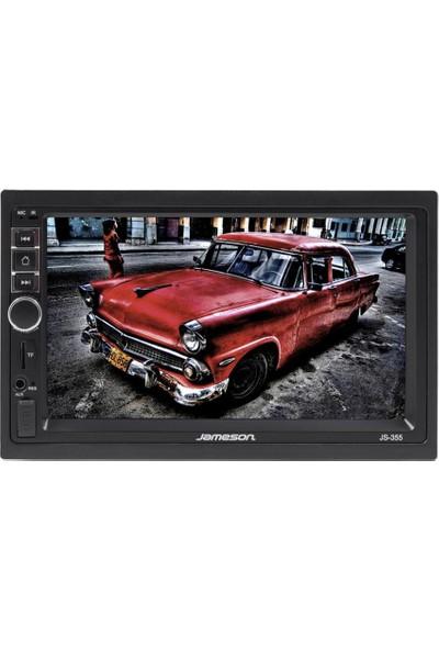 """Jameson JS-355 7"""" Double Tape + Geri Dönüş Kamerası"""