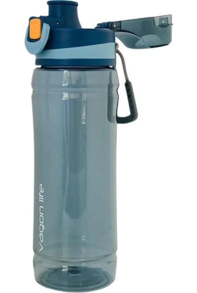 Vagonlife Tritan Su Matarası Kilitli Kapak 780 ml Mavi - Turuncu
