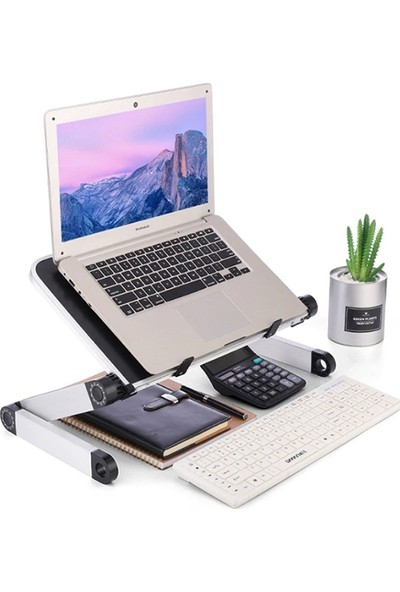 Ally Yükseklik Ayarlı Portatif Katlanabilir Laptop,ipad Sehpası Stand AL-32511