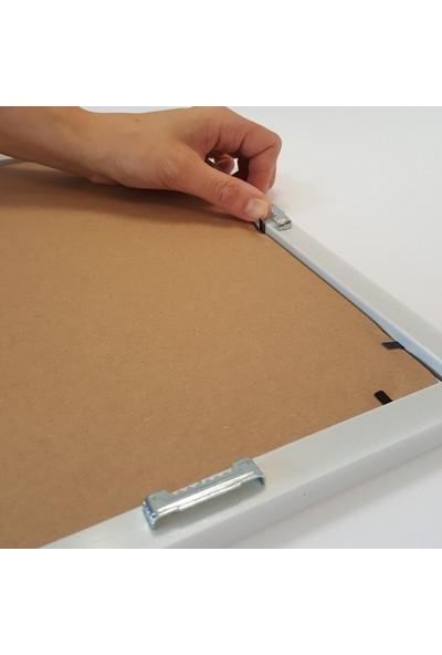 Efor Çerçeve A4 Çerçevesi Mat Camlı - Beyaz Renk Çerçeve Genişliği 20 mm