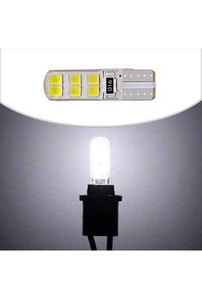 Knmaster T10 Canbus Smd 2835 12 Ledli Silikon Kaplamalı Evrensel Beyaz LED Takım