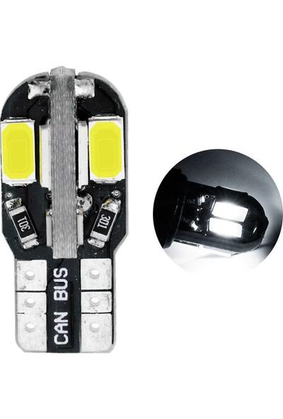 Knmaster T10 Canbus Smd 5730 8 Ledli Evrensel Beyaz LED Takım