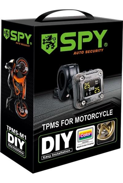Spy TPMS M1 External(Dış Sensörlü) Motosiklet Lastik Basınç Ölçer Sistemi
