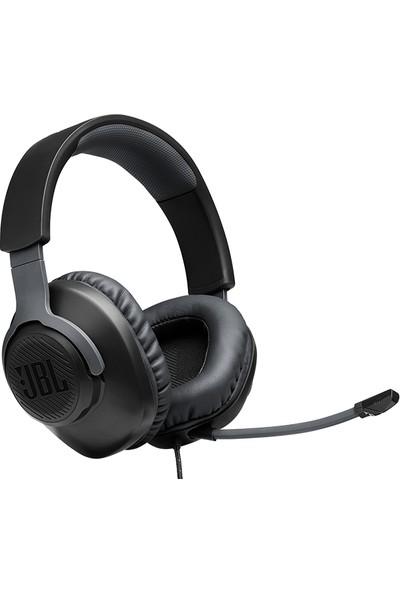 JBL Quantum 100 Çıkarılabilir Mikrofonlu 3.5mm Gaming Kulak Üstü Kulaklık - Siyah