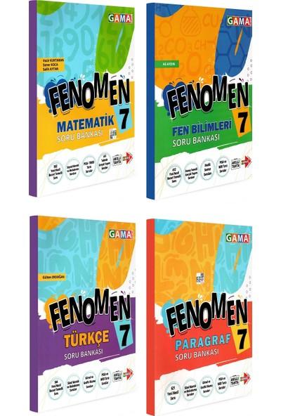 Gama Yayınları 7. Sınıf Fenomen Matematik Fen Bilimleri Türkçe Paragraf Soru Bankası Seti 4 Kitap