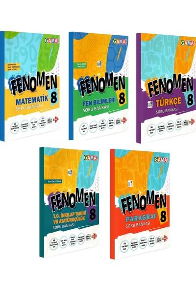 Gama Yayınları 8. Sınıf Fenomen Matematik Fen Türkçe Inkılap Paragraf Soru Bankası Seti 5 Kitap