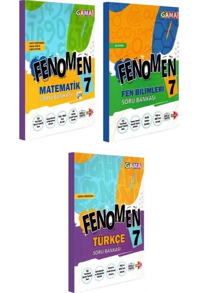 Gama Yayınları 7. Sınıf Fenomen Matematik Fen Bilimleri Türkçe Soru Bankası Seti 3 Kitap