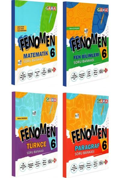 Gama Yayınları 6. Sınıf Fenomen Matematik Fen Bilimleri Türkçe Paragraf Soru Bankası Seti 4 Kitap