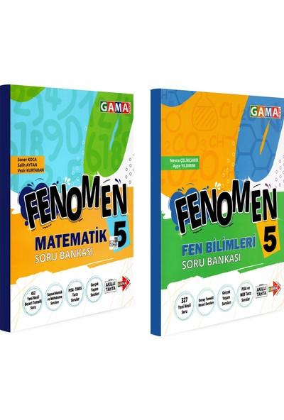 Gama Yayınları 5. Sınıf Fenomen Matematik Fen Bilimleri Soru Bankası Seti 2 Kitap