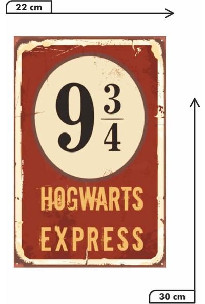 Dekolia Hogwarts Express Retro Vintage Ahşap Mdf Tablo DRTR0106
