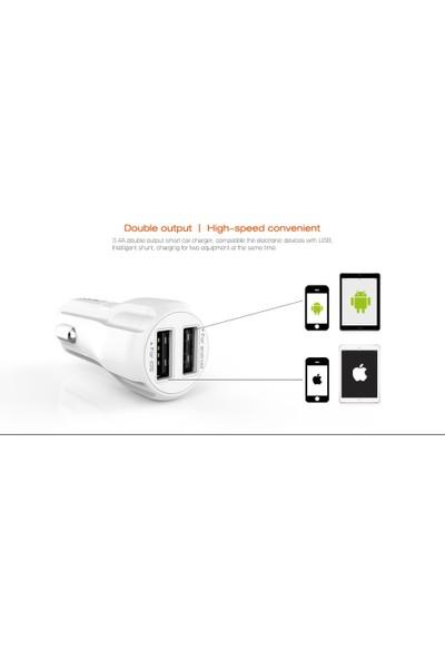 X-Voora 2.4A Auto ID Fast Charge Şarj Cihazı