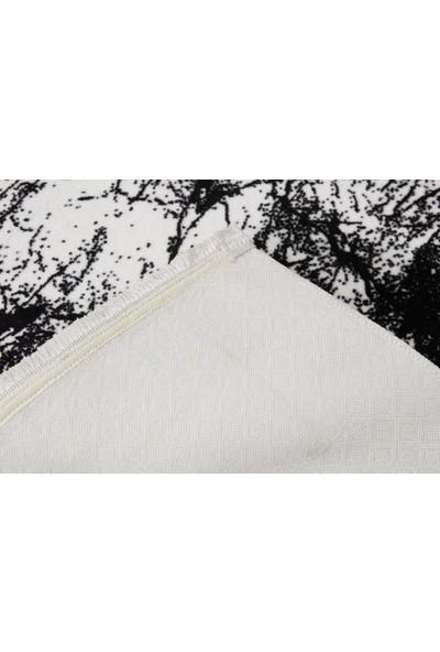 Dolce Bonita Home Kaymaz Taban Halı Püsküllü 120x180 Amor Beyaz