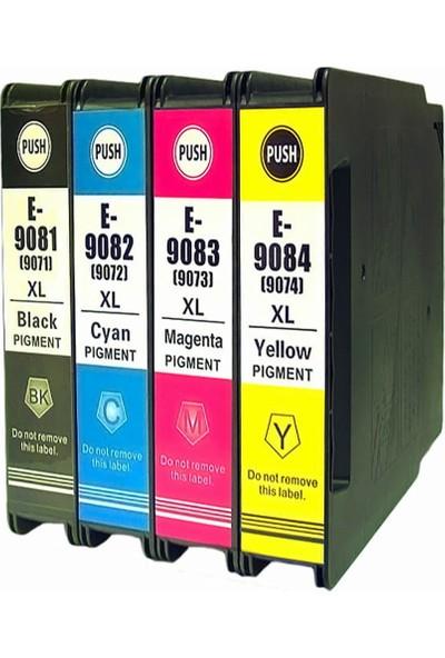 Photo Print Epson Workforce Pro WF-6090DW 7091-7092-7093-7094 4 Renk Muadil Kartuş Seti