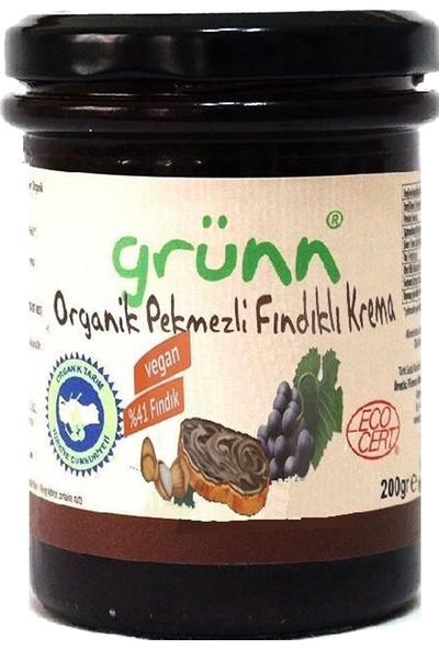 Grünn Organik Pekmezli Fındıklı Krema 200 gr