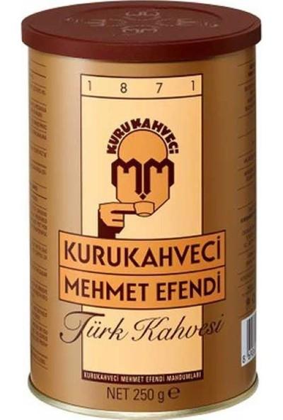 Kuru Kahveci Mehmet Efendi Kahve Teneke 250 gr