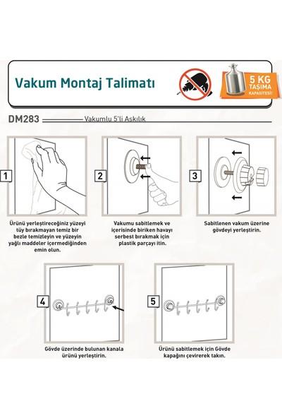 Tekno-tel Vakumlu 5'li Askılık Mat Siyah DM283