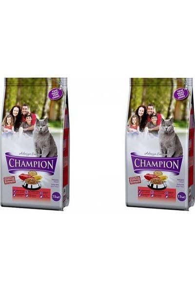Champion Dana Etli Yetişkin Kedi Maması 15 kg ( 7,5 kg x 2 Adet) SKT-02-2022