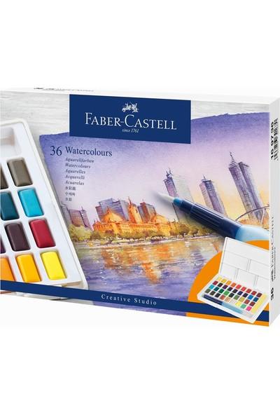 Faber-Castell Creative Studio Sulu Boya Tava Boyaları 36 Renk Seti Su Fırçası Içerir