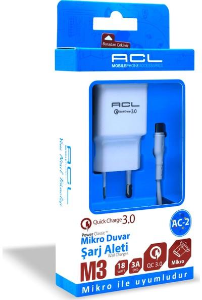 ACL AC-2 Micro USB 3.0 Mah Şarj Aleti Seti