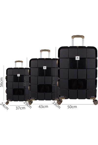 Bagacar Silikon Kırılmaz Pp Valiz Kabin Boy Kahverengi - Siyah