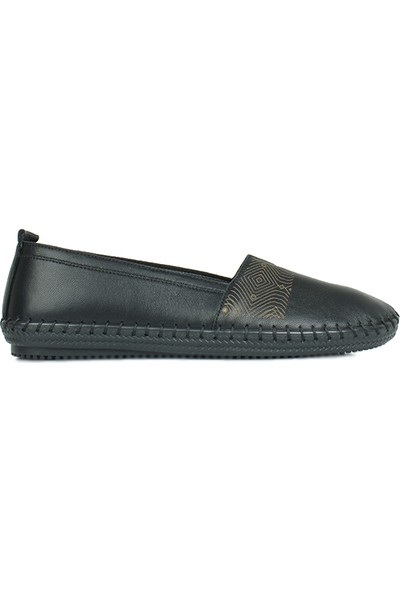 Erkan Kaban 625043 014 Kadın Siyah Deri Günlük Ayakkabı