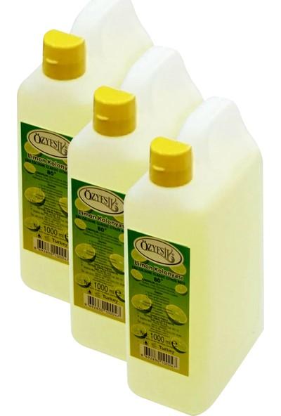 Özyeşil Limon Kolonyası 80°c 1000 ml X3 Adet