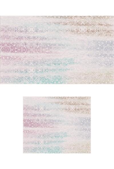 Colizon 50 x 80 cm - 40 x 50 cm Dijital Banyo Halısı Kaymaz Tabanlı Klozet Takımı 2'LITYKDB-1878-K
