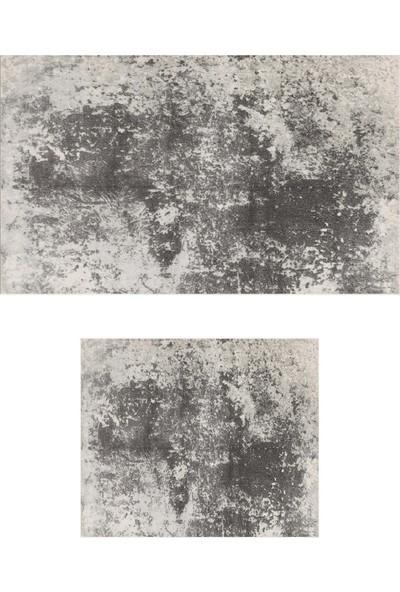 Colizon 60 x 90 cm - 50 x 60 cm Dijital Banyo Halısı Kaymaz Tabanlı Klozet Takımı 2'li TYKDB-1898