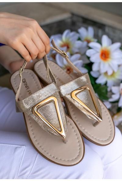 Erbilden Samy Gold Cilt Parmak Arası Sandalet