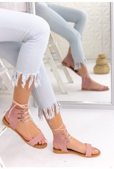Erbilden Karlie Pudra Süet Sandalet