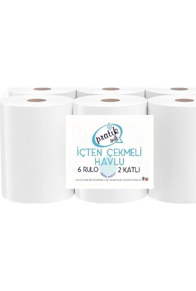 Pratik Soft Içten Çekmeli Kağıt Havlu 6 Rulo
