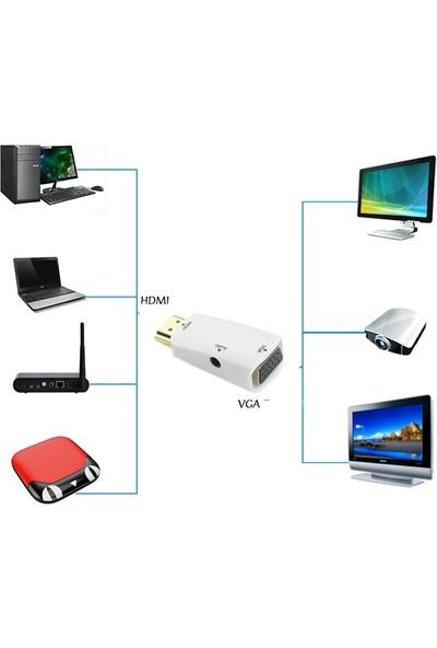 Concord C-844 HDMI To VGA Adaptör + Aux Kablo
